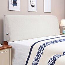 Tuch Bett Kissen Bett Abdeckung Schützen Sie die Taille Kissen Soft Tasche Lendenwirbelstütze Mit Nachttisch Abnehmbare und waschbar ( Farbe : Having bedside-d , größe : 190*55cm )