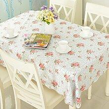 Tuch/ Europäische Garten Tischdecke/PVC Einweg-Tischdecken/Wasser und Öl Beweis Tischdecke/ Tischtuch/Tischsets/Tischdecke decke-D 137x183cm(54x72inch)