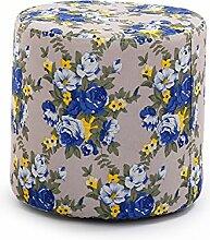 Tuch Hocker Massivholz sofa Hocker für Schuh Hocker Wohnzimmer Couchtisch Hocker Hocker kleine Sitzbank kreative Mode Hocker, 28 * 28 * 28 cm, Blue Roses