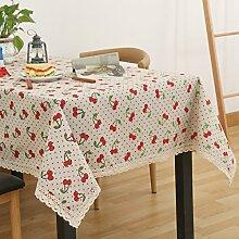 Tuch Kleine Frische Tapete,Garten Rechteckig Baumwolle Leinen Quadrat Tuch,Einfaches Modernes Tuch-Q 140x140cm(55x55inch)