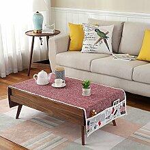 Tuch Kleine Frische Tapete,Tuch Baumwolle Leinen Rechteckig Gitter Pastoral Tee Tisch Mat,Round Table Quadratischen Tisch Stoffservietten-F 60x180cm(24x71inch)