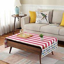 Tuch Kleine Frische Tapete,Tuch Baumwolle Leinen Rechteckig Gitter Pastoral Tee Tisch Mat,Round Table Quadratischen Tisch Stoffservietten-I 60x150cm(24x59inch)