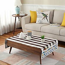Tuch Kleine Frische Tapete,Tuch Baumwolle Leinen Rechteckig Gitter Pastoral Tee Tisch Mat,Round Table Quadratischen Tisch Stoffservietten-H 80x180cm(31x71inch)