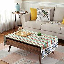 Tuch Kleine Frische Tapete,Tuch Baumwolle Leinen Rechteckig Gitter Pastoral Tee Tisch Mat,Round Table Quadratischen Tisch Stoffservietten-J 60x180cm(24x71inch)