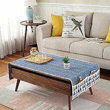 Tuch Kleine Frische Tapete,Tuch Baumwolle Leinen Rechteckig Gitter Pastoral Tee Tisch Mat,Round Table Quadratischen Tisch Stoffservietten-M 70x180cm(28x71inch)