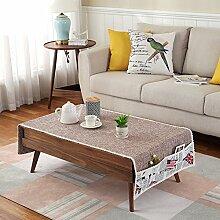Tuch Kleine Frische Tapete,Tuch Baumwolle Leinen Rechteckig Gitter Pastoral Tee Tisch Mat,Round Table Quadratischen Tisch Stoffservietten-A 50x180cm(20x71inch)