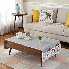 Tuch Kleine Frische Tapete,Tuch Baumwolle Leinen Rechteckig Gitter Pastoral Tee Tisch Mat,Round Table Quadratischen Tisch Stoffservietten-C 50x150cm(20x59inch)