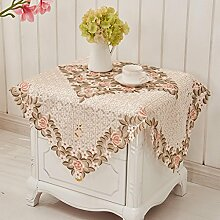 Tuch Pastoral Europäische Kaffeetuch, runde Tisch Tischdecken, Tischdecke Wohnzimmer Haus , #1 , 57*57cm