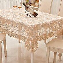 Tuch Spitze Nudeln Europäische Couchtisch Tuch, runde Tischdecken, Wohn-Wohnzimmer Tischdecken , #1 , 90*150cm