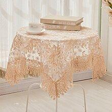 Tuch Spitze Nudeln Europäische Couchtisch Tuch, runde Tischdecken, Wohn-Wohnzimmer Tischdecken , #1 , 110*110cm