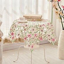 Tuch Spitze Pastoral Europäische Couchtisch Tuch, runde Tischdecken, Tischtücher Tischdecken , #1 , 38*135cm