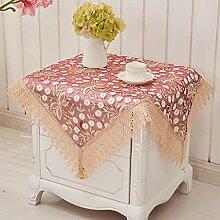 Tuch Spitze Pastoral Europäische Couchtisch Tuch, runde Tischdecken, Tischdecken , #1 , 60*60cm