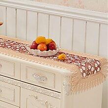 Tuch Tischdecken Tischdecken Gedeckt Handtuch Kaffee Tischdecke Tischfahne Tischdecke Stuhlabdeckung Tischfahne Stickerei Pastoralen Stickerei,06-38*175cm