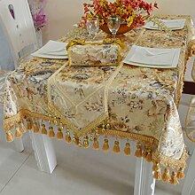 Tuch Tischläufer,Europäischen Luxus Mode Einfach Moderne Garten Tischdecke,Drucken Sie Tischdecke-A 33x240cm(13x94inch)