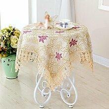 Tuch Wohnkaffeetischdecke Tuch, Tischdecke Baumwollkante Ventilator Tischdecke , #1 , 150*150cm