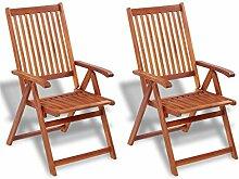 Tuduo 2er Set Außenstühle aus Akazienholz Design