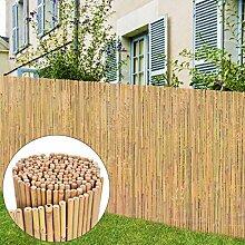Tuduo Gartenzaun Bambus braun Sichtschutz