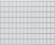 Tuduo Gartenzaun Zaunplatten 2D grau Schutzzaun