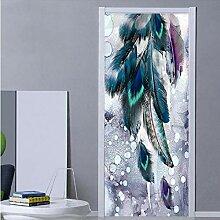 Tür Aufkleber Tapete Wandbild, Wandtür Aufkleber