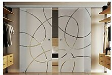 Tür aus Glas mit 2 ESG-Glasscheiben in jeweils