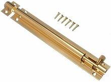 Tür Bolt Barrel Schiebeverschluss 150mm 6 -Zoll- Messing mit Schrauben ( Packung mit 50)