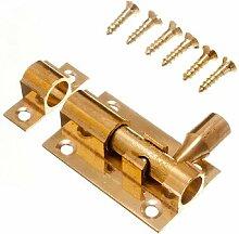 Tür Bolt Barrel Schiebeverschluss 38Mm 1 1/2 Zoll Messing mit Schrauben ( Packung mit 10)