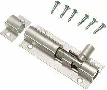 Tür Bolt Barrel Schiebeverschluss 63mm 2 1/2 Zoll- Aluminium + Schrauben ( Packung mit 24)