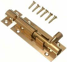 Tür Bolt Barrel Schiebeverschluss 63mm 2 1/2 Zoll Messing mit Schrauben ( Packung mit 10)
