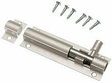 Tür Bolt Barrel Schiebeverschluss 75mm 3-Zoll- Aluminium + Schrauben ( Packung mit 50)