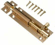 Tür Bolt Barrel Schiebeverschluss 75mm Messing mit 3-Zoll- Schrauben (10er Pack )