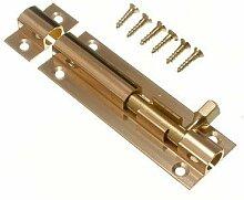 Tür Bolt Barrel Schiebeverschluss 75mm Messing mit 3-Zoll- Schrauben ( Packung mit 20)