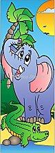 Tür Deko Kinder Elefant, 93x204cm