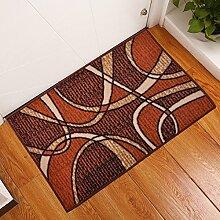Tür Eingang Matte Fußmatte Heimtextilien Küche Badezimmer Absorbierende Matte Teppich,A80x115cm,Braun