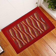Tür Eingang Matte Fußmatte Heimtextilien Küche Badezimmer Absorbierende Matte Teppich,B50x80cm,Braun