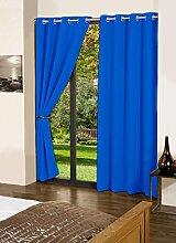 Tür- / Fenster fester Baumwolle Vorhang Blackout Öse lushomes Vorhänge und Gardinen - Größe wählen