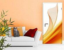 Tür Foto Wand Wandbild orange Dust, Größe: M–93,5x 208.5cm; Größe: 0cm x 0cm