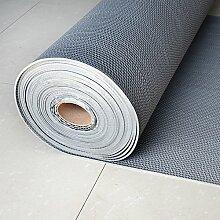 Tür Fußmatten in der Halle/Kunststoff Sanitär Pad/HohlSMats/Automatten/Bad Antirutschmatten-grau 120x100cm(47x39inch)
