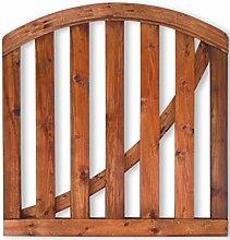 Tür Gartenzaun Holz B 100 x H 70/ 85 cm.