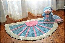 Tür halbrunde Kissen Schlafzimmer Türmatten Sanitär Badezimmer saugfähige Matten Matten 50*80cm blau