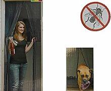 Tür Insektenschutz 220x100 cm mit Magnetverschluss Fliegenschutz Moskitonetz Balkontür Terrassentür Mückenschutz