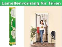 Tür Lamellen-Vorhang 100x220 cm Insektenschutz Fliegengitter