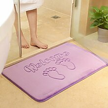 Tür Matratze Fußmatte Badezimmer Eingangshalle Bad Anti-Rutsch-absorbierende Schwamm Matte Schlafzimmertür Türmatte (60 * 40cm) ( farbe : U )