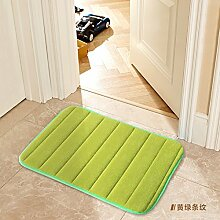 Tür Matte Matten Bad Fußmatte 40 x 120 cm, grüne Streifen