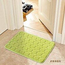 Tür Matte Matten Bad Fußmatte 45 X 75 Cm, grüner Kreis