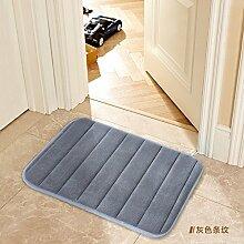 Tür Matte Matten Bad Fußmatte 70 x 140 cm, grau Streifen