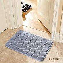 Tür Matte Matten Bad Fußmatte 70 x 140 cm, grauer Kreis