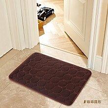 Tür Matte Matten Badezimmer Matten, 60 × 120 Cm, Kaffee Kreis
