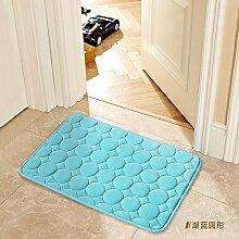 Tür Matte Matten Badezimmer Matten, 60×140 cm, See blauer Kreis