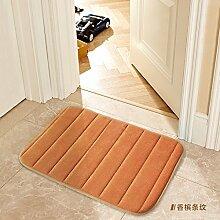 Tür Matte Matten Badezimmer Matten, 60 x 160 cm, Champagner Streifen