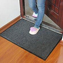 Tür Matte Matten Fuß Balkon Wc, 60 * 90 cm, Anti-Slip-Pad Grau